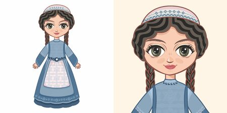 Little Jewish girl. Design