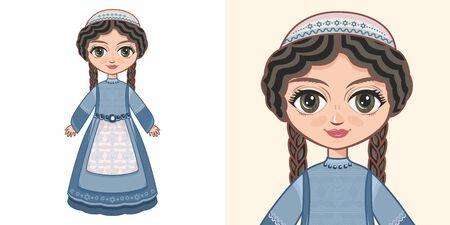 Little Jewish girl. Design