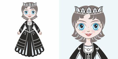 Little princess. Design Illustration