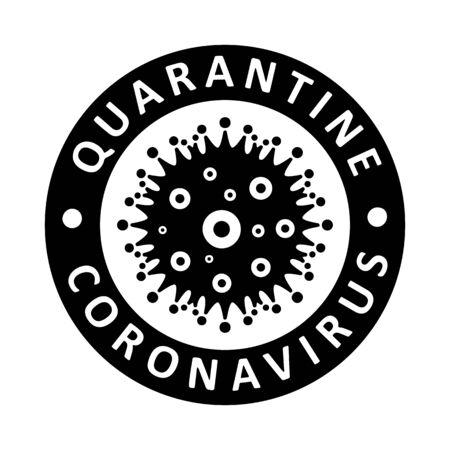 Coronavirus virus Covid-19 Cell Icon 2019-nCoV Novel Coronavirus Virus. Quarantine No Infection and Stop Coronavirus Concepts. Dangerous Coronovirus Cell SARS for volunteers Quarantine No Panic