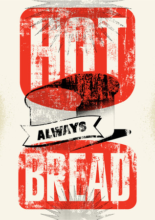 bread shop: Vintage bread shop typography grunge style poster. Vector illustration.