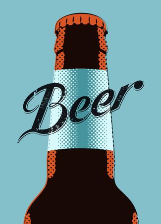 Typografische retro grunge bier poster. Vector illustratie.