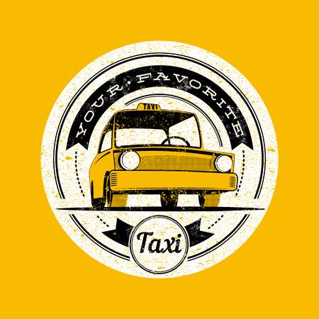 label retro: Taxi vector retro label. Vectores