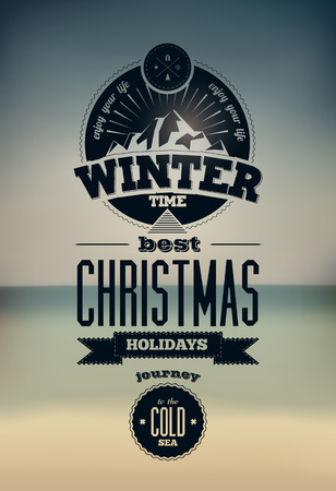 christmas time: Winter time. Vector illustration.