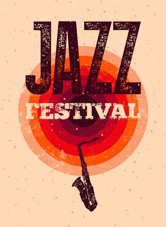typographical: Jazz Festival poster. Retro typographical grunge illustration.