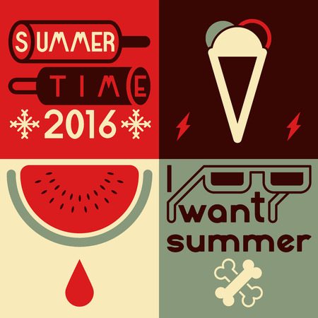typographical: Summer time typographical poster. Illustration