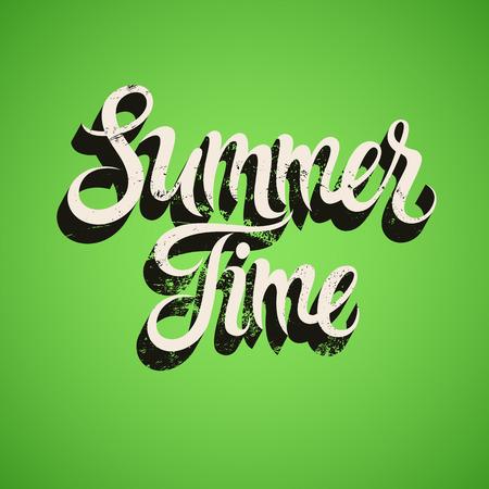 calligraphic design: Summer Time calligraphic vintage design.
