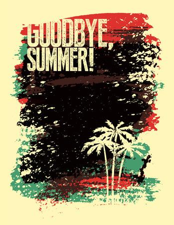 Summer typografische grunge retro poster design. Vector illustratie. Stock Illustratie
