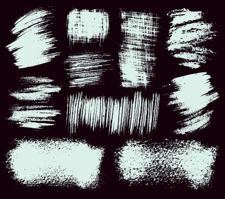 Vector set of hand drawn brush strokes and stains. Illustration