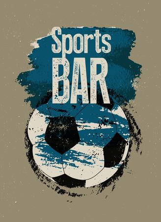 Sports Bar typographic vintage style grunge poster. Retro vector illustration. Illustration