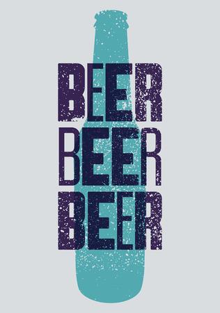 Beer typographical vintage style grunge poster. Retro vector illustration. Illustration