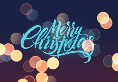 Feliz Navidad. Diseño de tarjeta de Navidad caligráfica. Ilustración vectorial Foto de archivo - 88637306