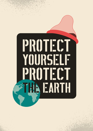 Protect yourself, protect the Earth poster illustration