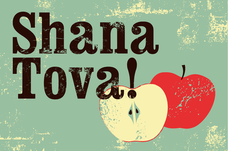 Shana tova typographic vintage grunge style rosh hashanah greeting shana tova typographic vintage grunge style rosh hashanah greeting card retro vector illustration m4hsunfo