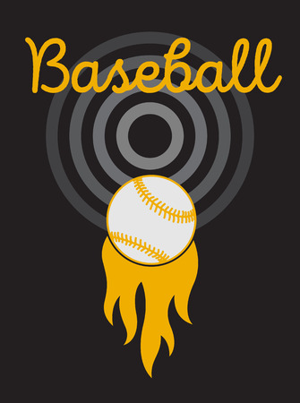 Baseball typographical vintage style poster. Retro vector illustration.