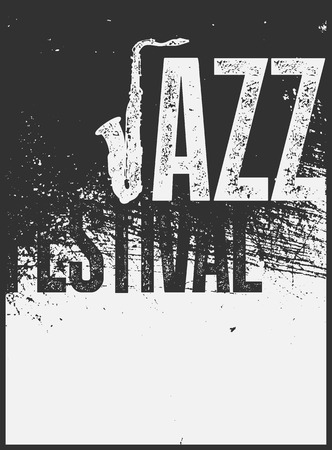 Jazz Festival typographical vintage grunge style poster. Retro vector illustration. Illustration