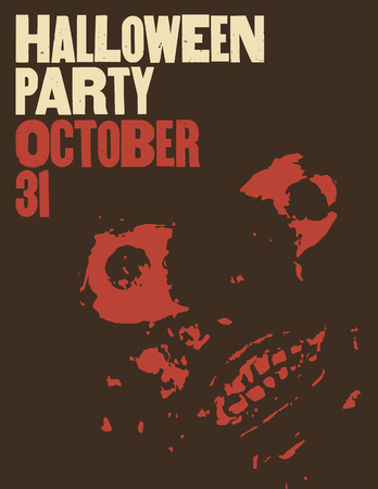 Halloween Party typographical vintage style poster. Retro vector illustration.