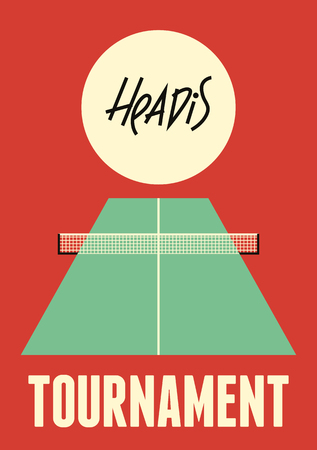 Headis tournament typographical vintage style poster. Vector illustration. Illustration