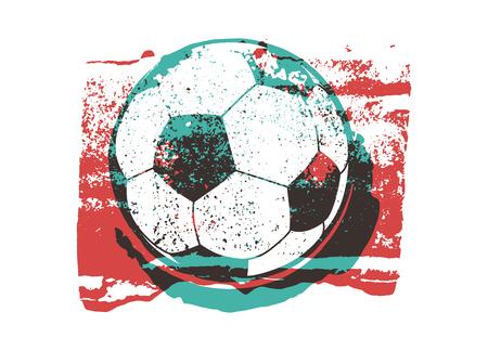 Soccer typographical vintage grunge style poster. Retro vector illustration. Stock Illustratie