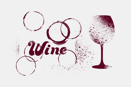 Wine typographical vintage grunge stencil splash style poster design. Retro vector illustration. Illustration