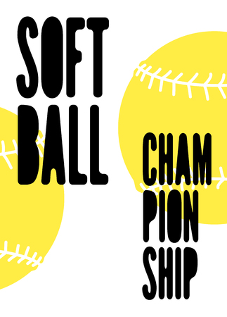Softball Championship typographical vintage style poster. Retro vector illustration. Illustration
