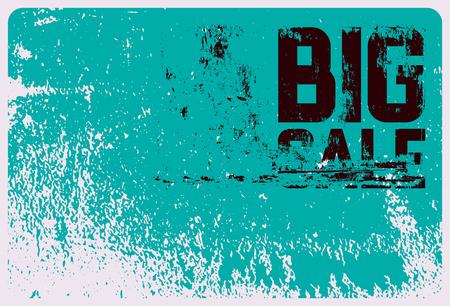 Big Sale typographical vintage style grunge poster design. Retro vector illustration. Banco de Imagens - 122852055