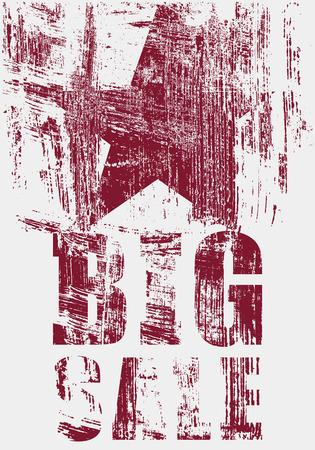 Big Sale typographical vintage style grunge poster design. Retro vector illustration.