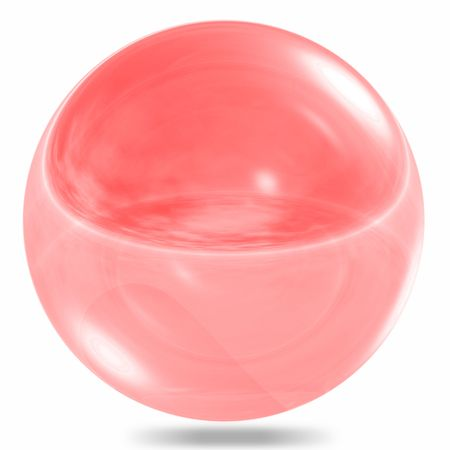 Red glass sphere isolated on white background Stock Photo - 6637292