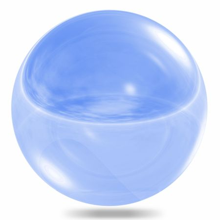 Glass sphere isolated on white background Stock Photo - 6637291