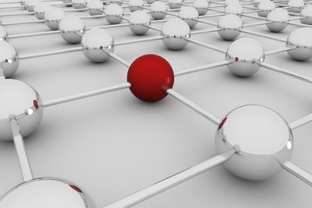 intranet: Abstract concept of social global network- 3D rendering