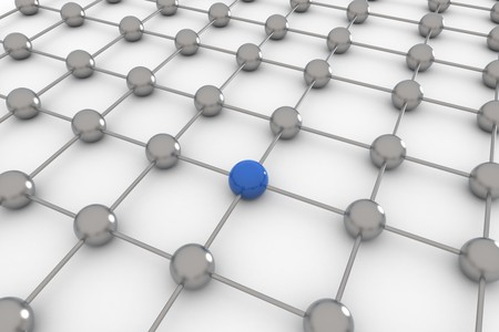 computer network: Abstract concept of social global network- 3D rendering