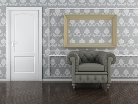 Classic interior (3D render) -  Elegance Furniture Stock Photo - 9351303