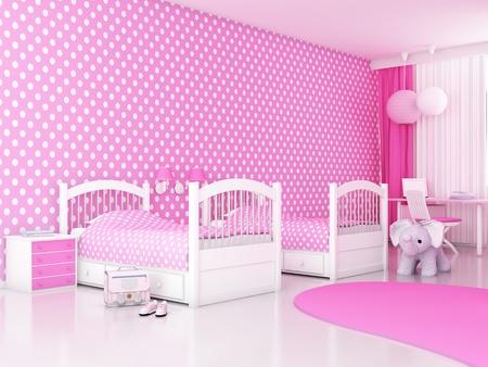 Modern Interior (3D render) - Children's room Stock Photo - 10014780