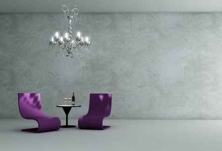 lounge room interior - 3D render