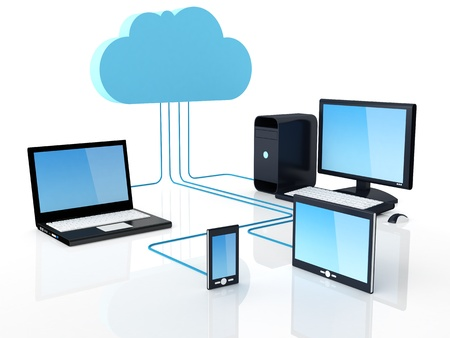 computer cloud: Home Electronic Devices connected to cloud server.  Note: All Devices design and all screen interface graphics in this series are designed by the contributor him self.