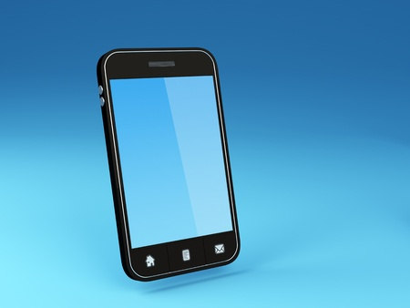 time sensitive: 3D Illustration of generic smartphone Note  All Devices design and all screen interface graphics in this series are designed by the contributor him self  Stock Photo