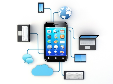 contributor: Smartphone and Home Electronic Devices connected to cloud server.  Note: All Devices design and all screen interface graphics in this series are designed by the contributor him self.