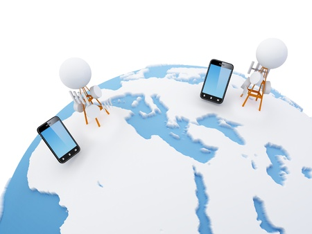 A cellular network or mobile network is a radio network distributed over land areas called cells, each served by at least one fixed-location transceiver, known as a cell site or base station. In a cellular network, each cell uses a different set of freque