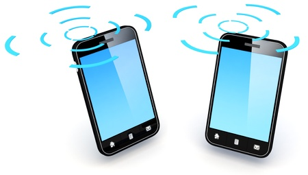 3D Illustration of generic smartphone.  Note: All Devices design and all screen interface graphics in this series are designed by the contributor him self.