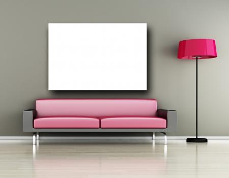 Modern inter  3D render  - Living room Stock Photo - 14915584