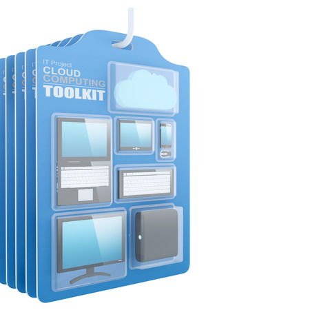 toolkit: Cloud Computing Toolkit In Hanging Box - 3D Render Note: All Devices design and all screen interface graphics in this series are designed by the contributor himself.