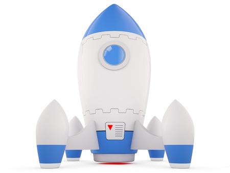 rocketship: 3D illustration of Rocket.