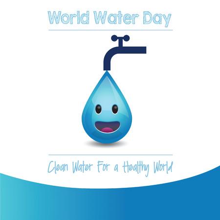 Día Mundial del Agua - ilustración vectorial