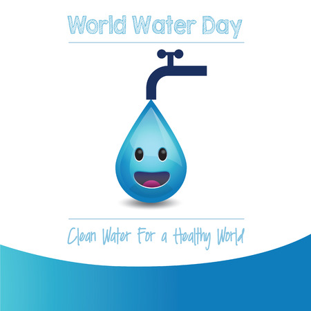 World Water Day - Vector Illustration