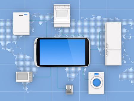 protocols: Internet of Things Concept - Impianti collegato a Smartphone