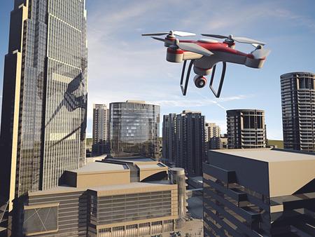 Drone Fliegen für Luftaufnahmen oder Videoaufnahme Standard-Bild - 39849800