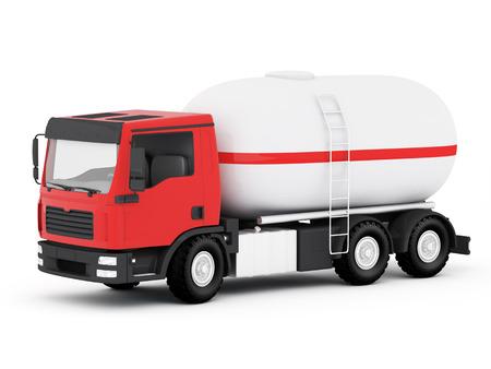 LPG-Tank-LKW - 3D Render Standard-Bild
