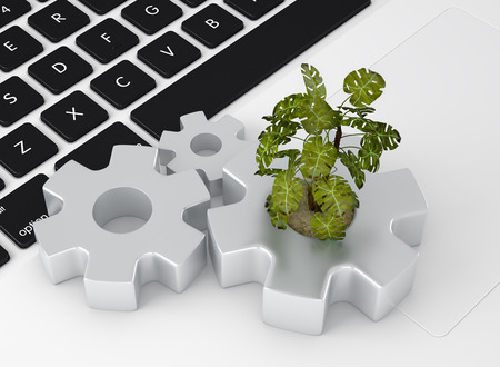 infrastructures: Environmentally friendly production concept. Concept: the importance of digitalizing in the infrastructures, considering also the environmental sustainability.