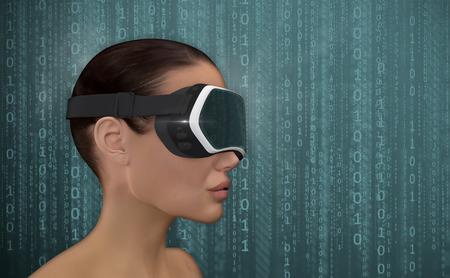 stereoscopic: Virtual Reality Concept.