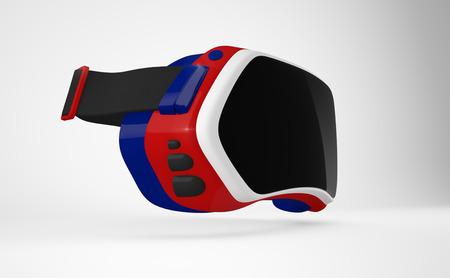 stereoscopic: Virtual reality head-mounted display (HMD).